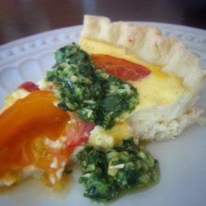 Heirloom tomato pie slice