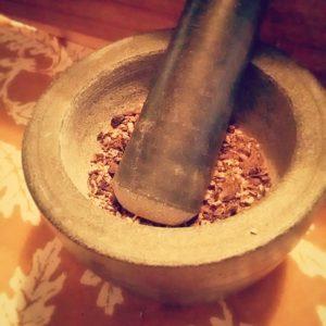 herbal coffee grinding