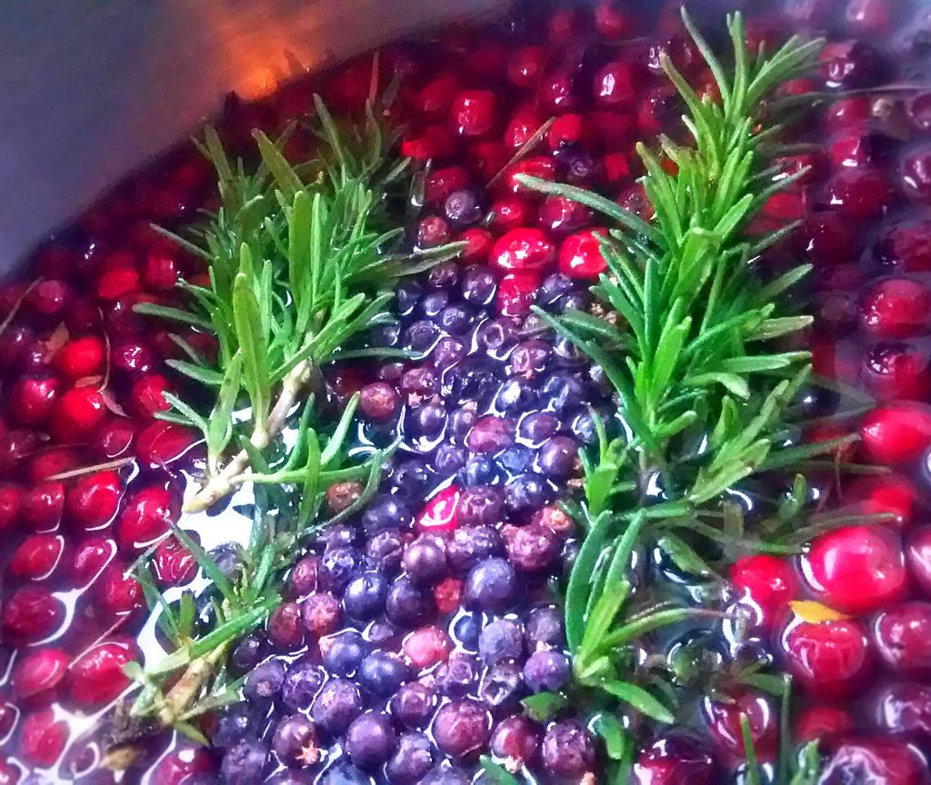 savory hawthorn and cranberry syrup