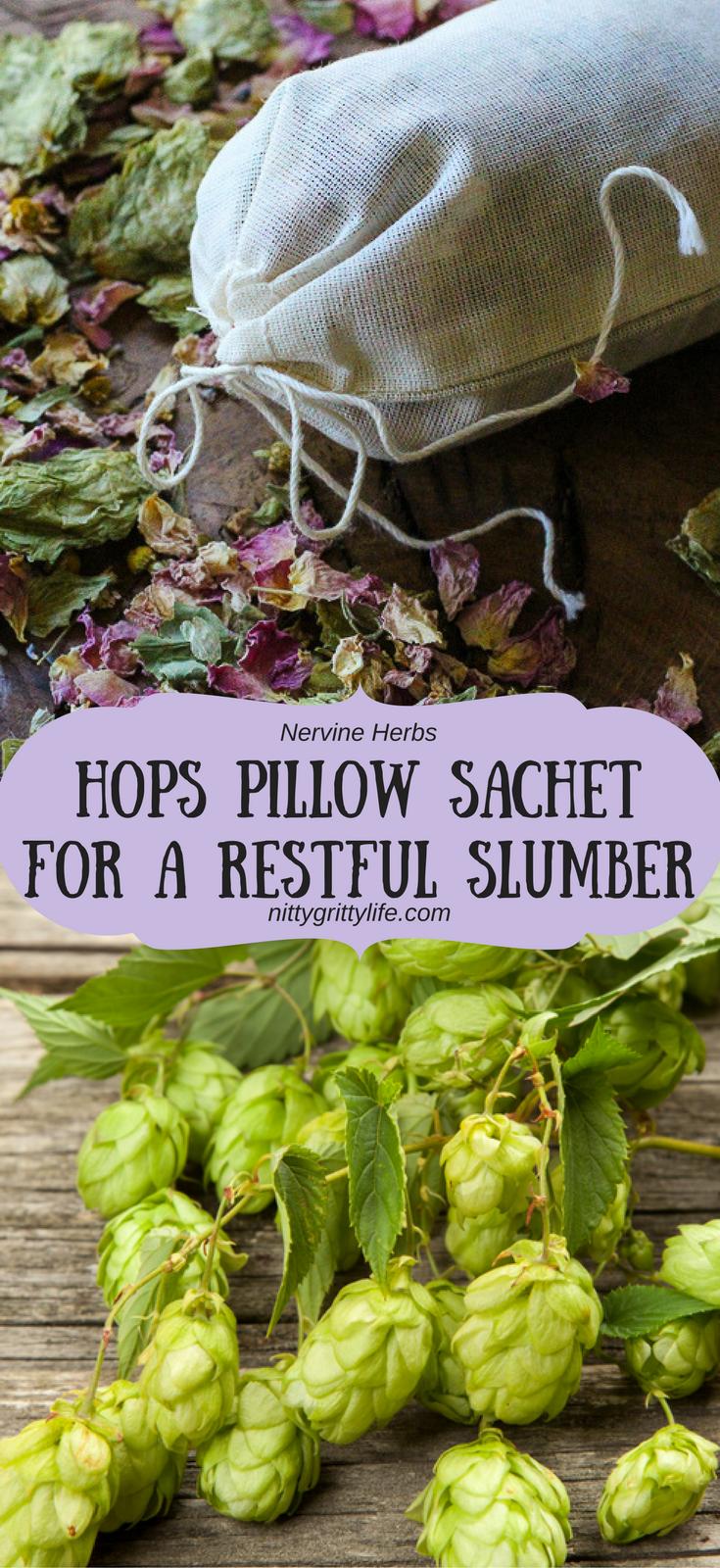 hops pillow sachet for a restful slumber