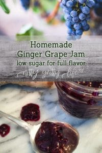 Ginger Grape Jam Recipe