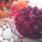 cranberry sauce with orange, ginger and tea