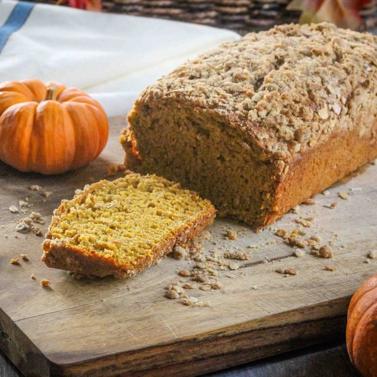 Divinely pumpkin-y & subtly sweet, this spiced pumpkin bread calls for little more than a pat butter and a cozy blanket with a fire on a crisp morning!