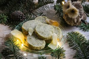 Magical, foraged and festive, these Douglas fir shortbread cookies are sure to delight! If Douglas fir does not grow in your area, any edible fir, pine, or spruce will do!