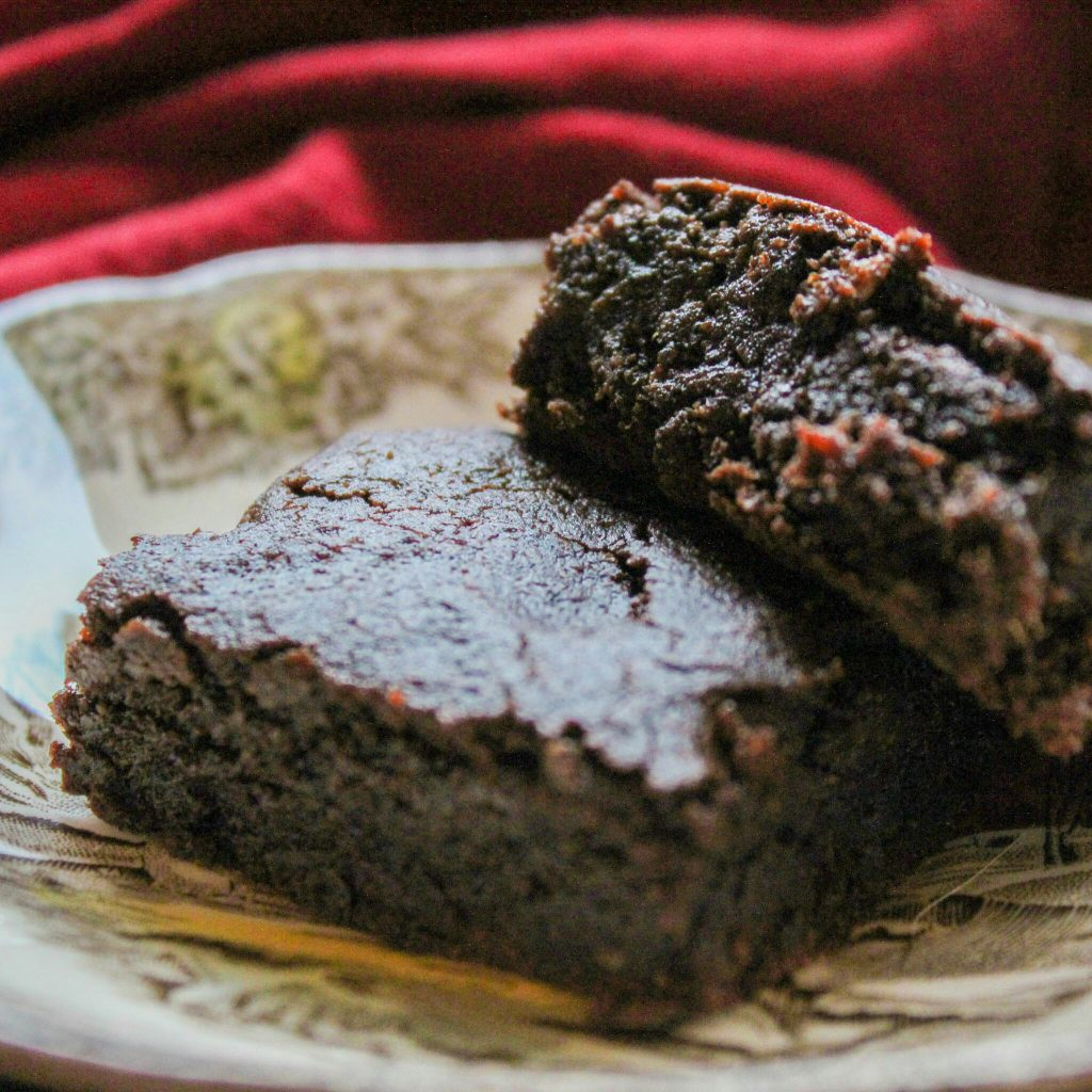 chocolate chaga brownies