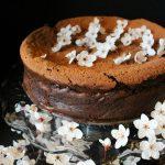 plum blossom flourless chocolate torte