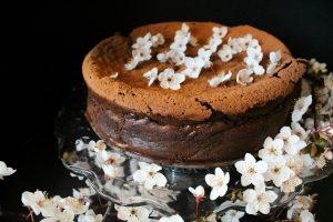 plum blossom flourless chocolate torte