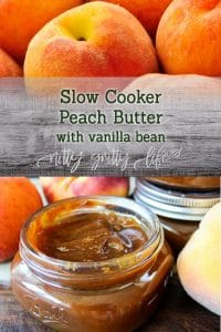 Slow Cooker Peach Butter