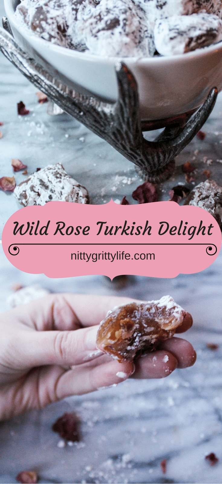 If nostalgia, magic and wonder had a flavor, it would be like that of this Wild Rose Turkish Delight. Layers of rose flavored, candy confection.