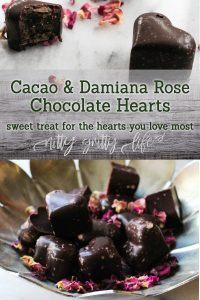 Cacao & Damiana Rose Chocolate Hearts
