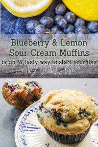 Blueberry and Lemon Sour Cream Muffins