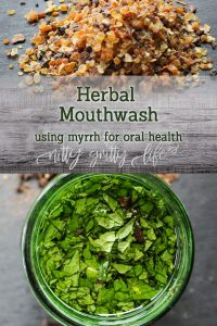 Herbal Mouthwash with Myrrh