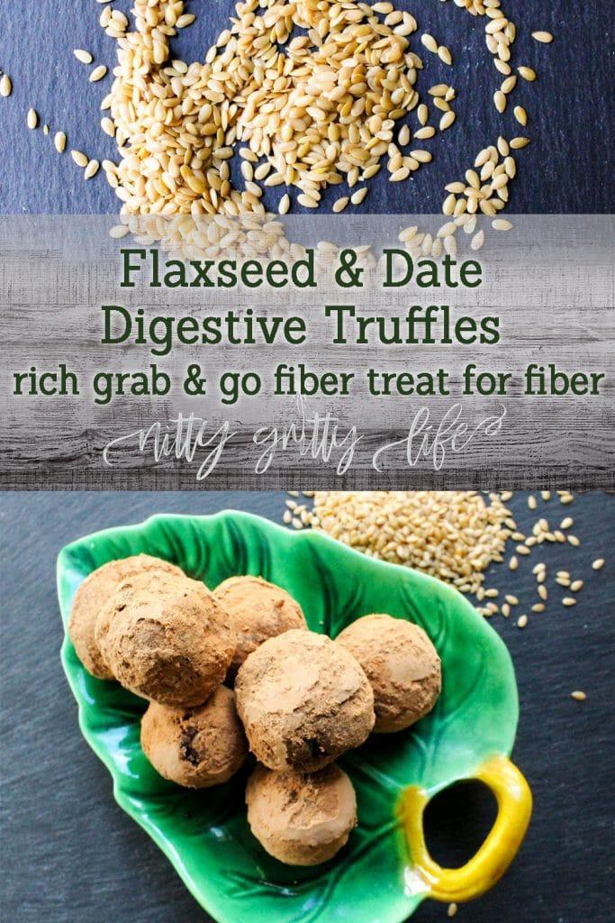 Flaxseed and Date Fiber Truffles