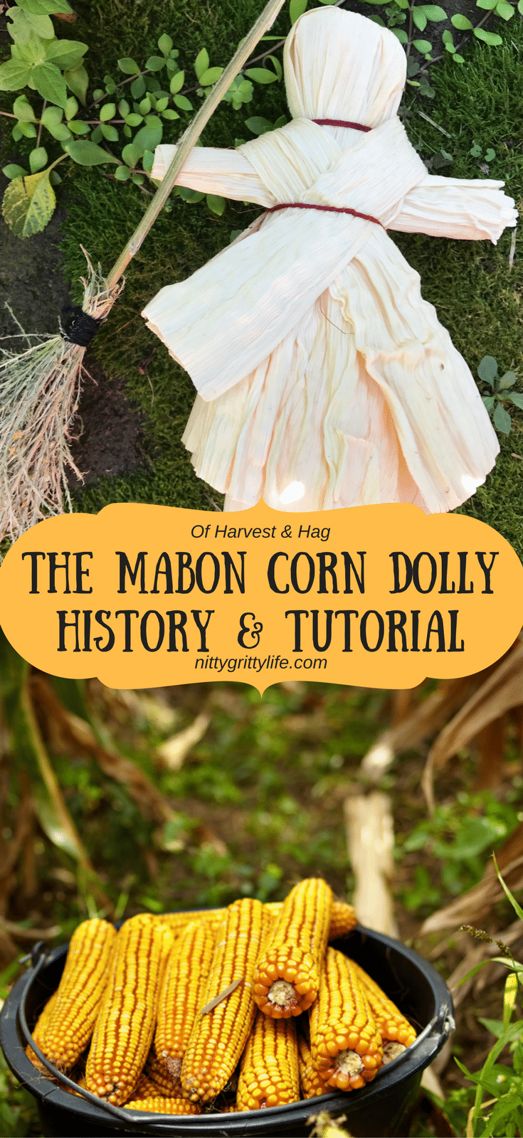 Celebrate fall and the harvest season with a beautiful Mabon corn dolly.