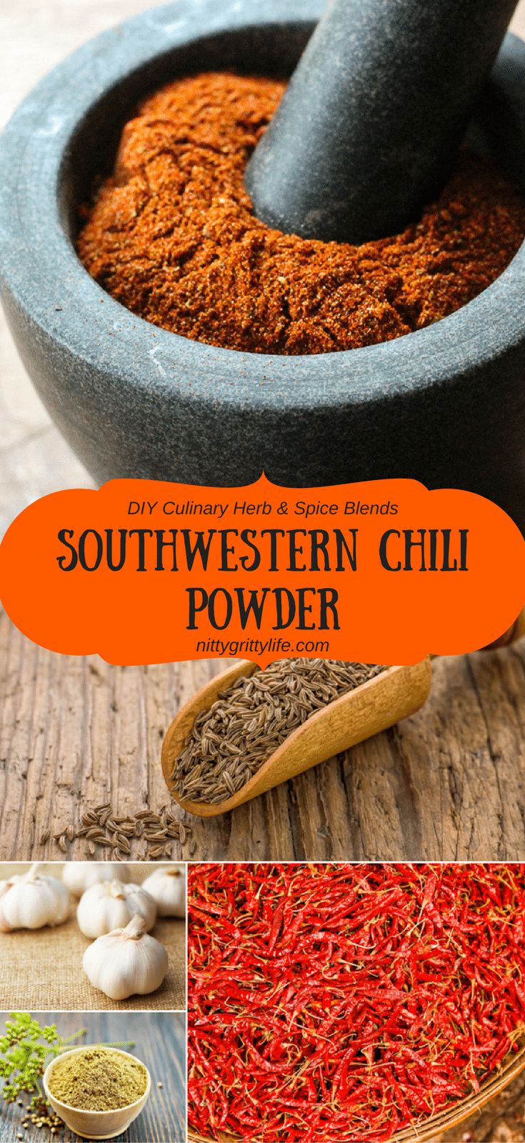 Spicy, earthy, and smoky, this DIY southwestern chili powder is the perfect flavor for south of the border soups, stews, grilled meats, and, of course, tacos.Spicy, earthy, and smoky, this DIY southwestern chili powder is the perfect flavor for south of the border soups, stews, grilled meats, and, of course, tacos.