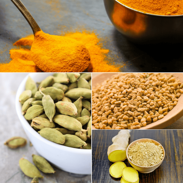 golden curry blend collage