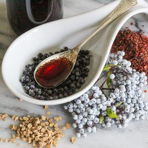 When the cold and flu season comes around, you might find it helpful to have this elderberry immunity syrup with rose hips and astragalus in supply!