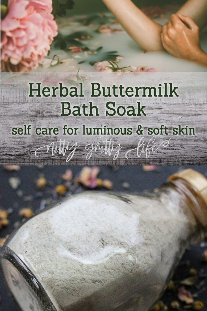 Herbal Buttermilk Bath for a Soothing