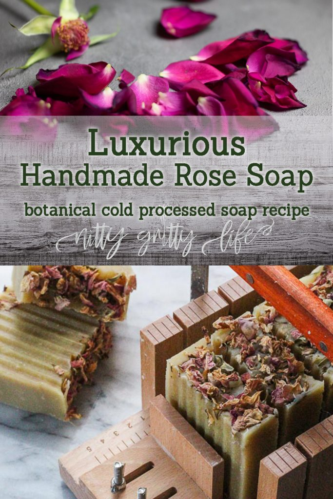 Luxurious Handmade Rose Soap