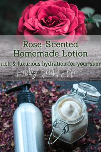 Rose-Scented Homemade Lotion