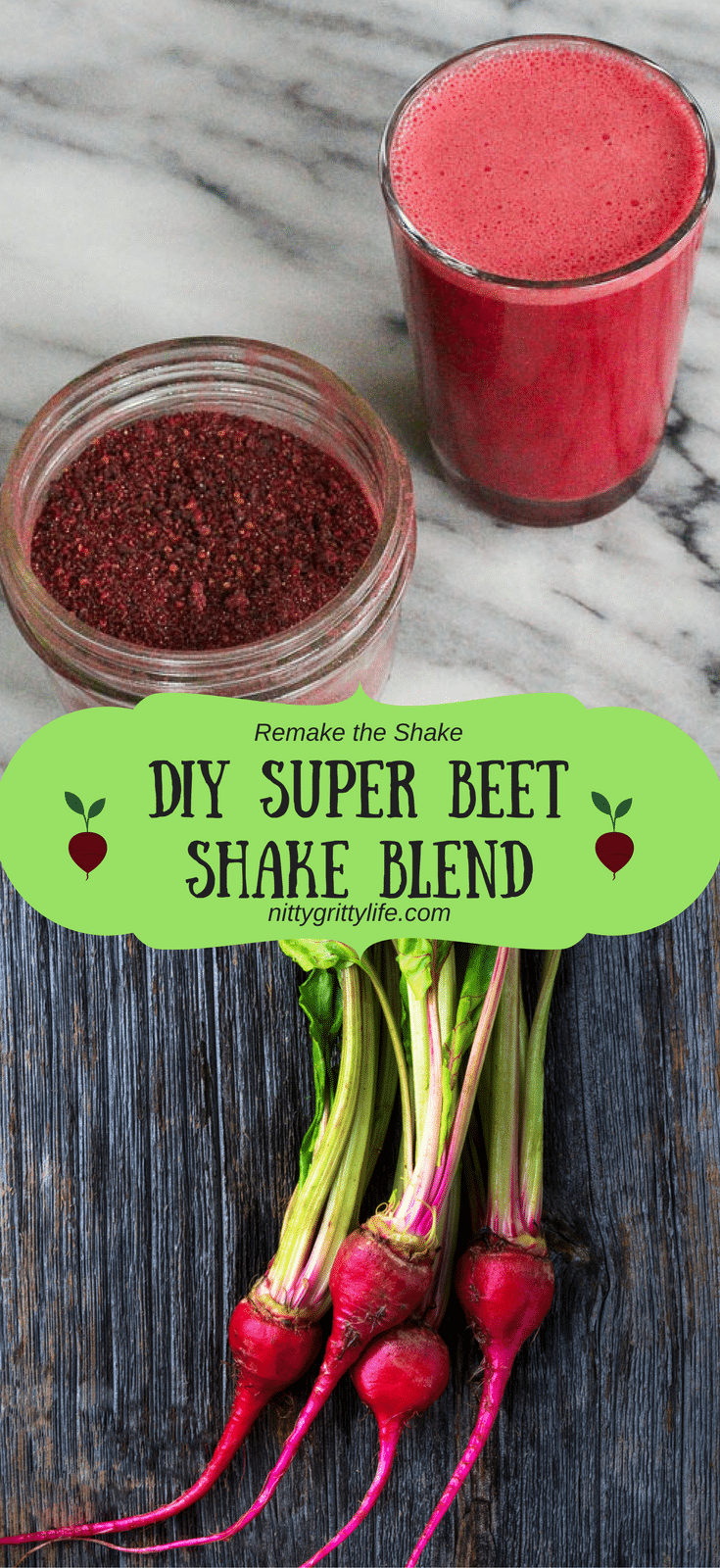 Avoid the high prices, excess packaging, and questionable ingredients with this simple but delicious DIY super beets shake blend. Remake your shake!