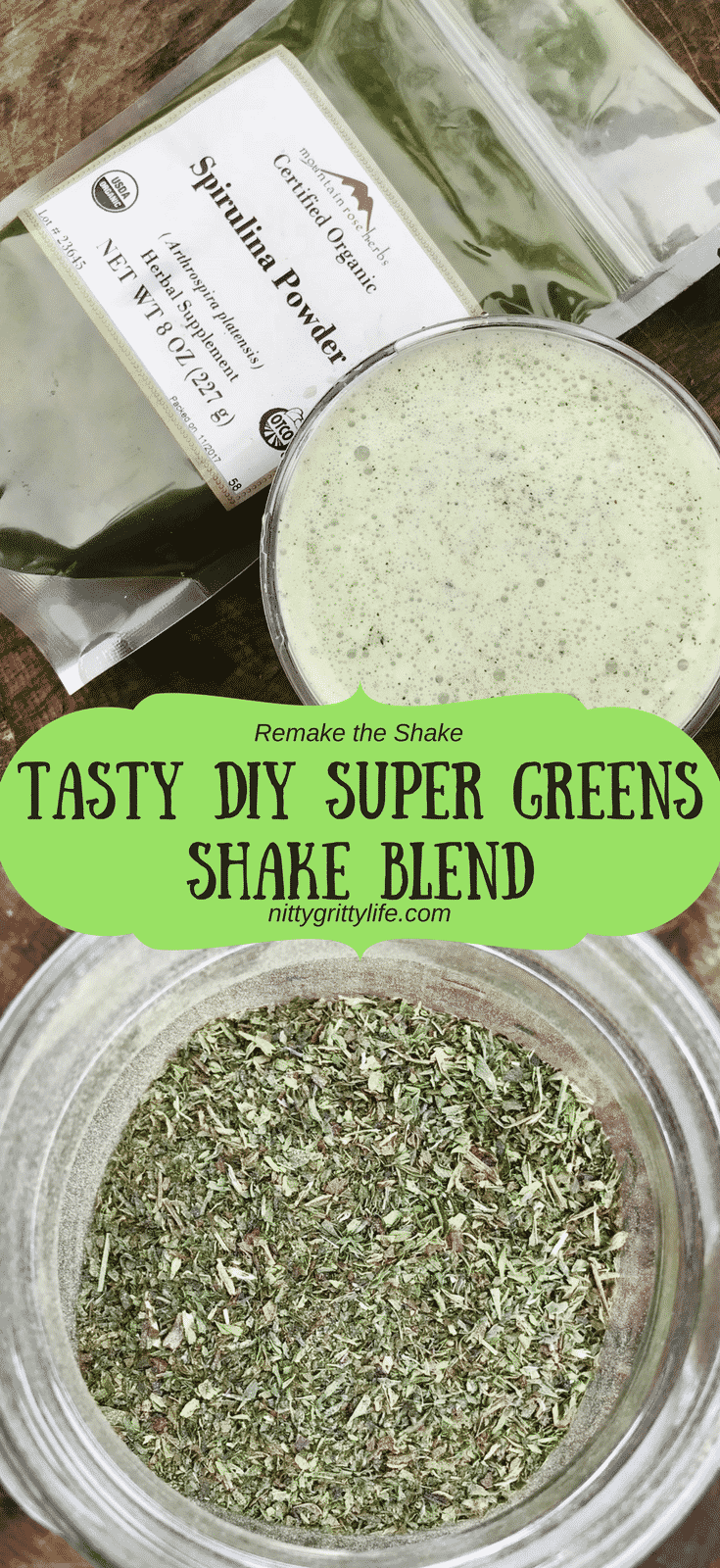 Big nutrition and flavor abound in this tasty DIY super green shake blend