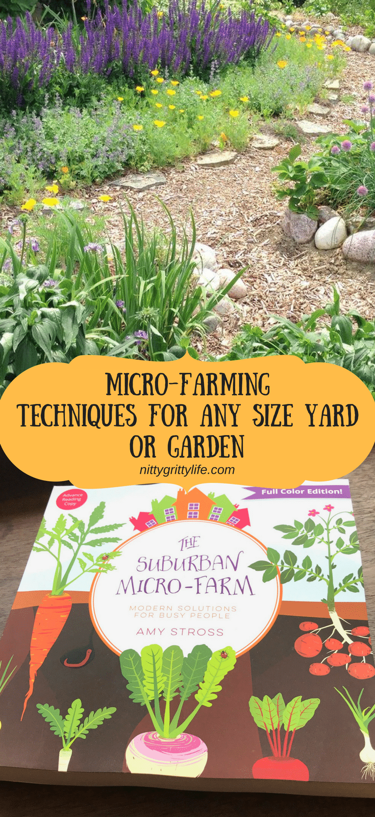 No matter the size of your yard or garden, micro-farming techniques from The Suburban Micro-Farm book can offer productive and attractive solutions to maximize your efforts! #microfarm #microfarming #permaculture #garden