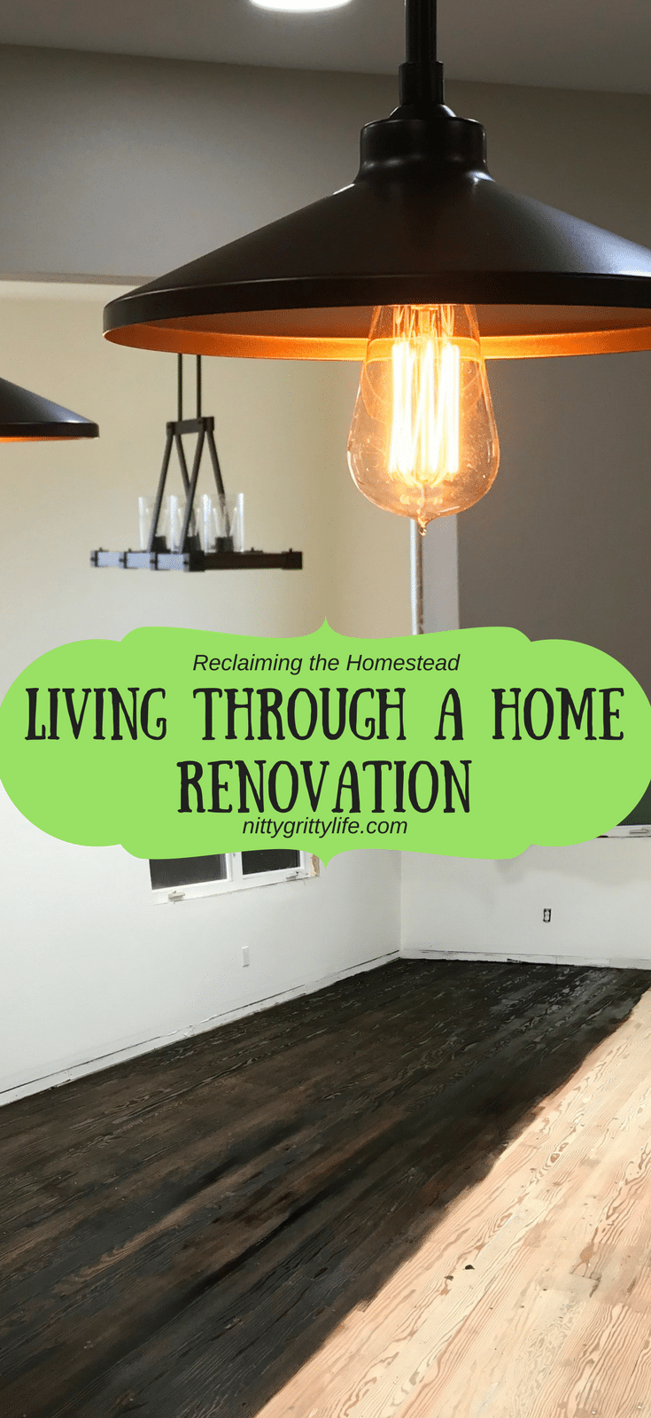 From a minor remodel to a full re-build, home renovation is hard.  Here are just a few of the things we learned while living through a home renovation. #homerenovation #remodeling #renovation
