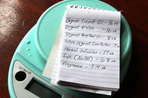 cold press soap measurements