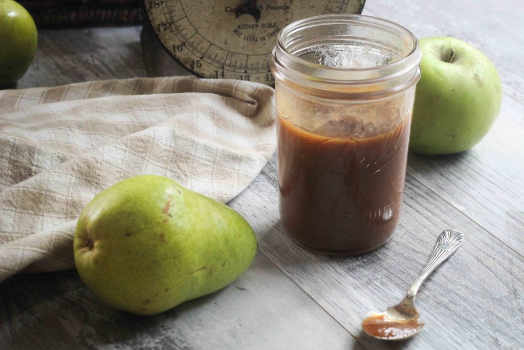 This spiced apple pear butter is elevated to something amazing by way of an unexpected surprise ingredient - apple cider vinegar.  The result is a better balance of sweetness and acidity, making this canning recipe a seasonal favorite!