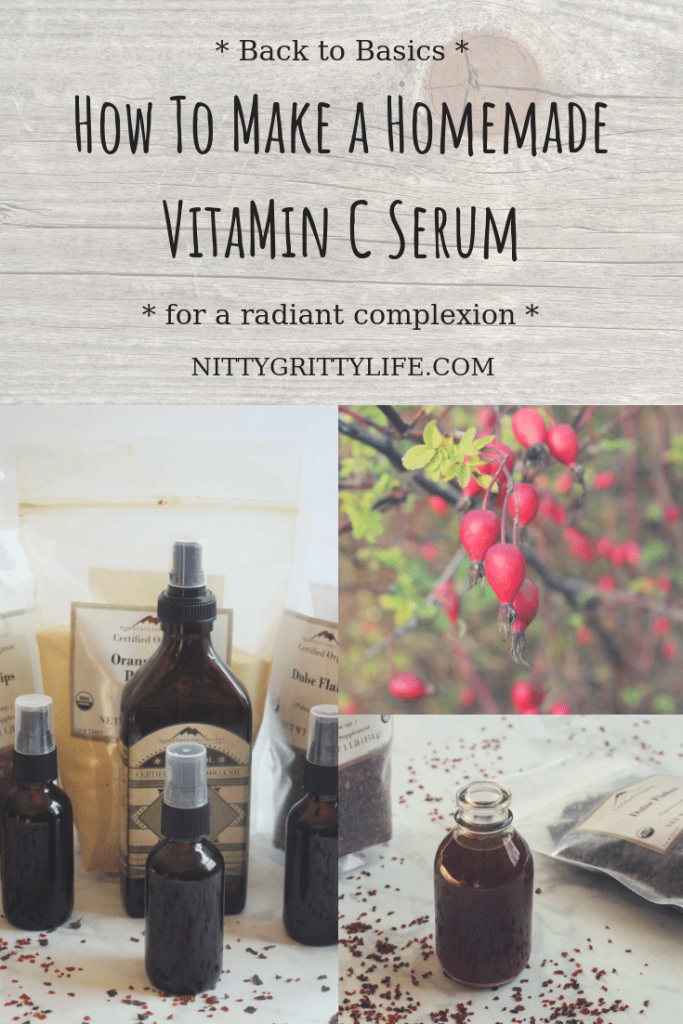 Do you desire a luminous complexion and smooth, soft skin? This homemade skin brightening serum is just for you! Dulse flakes, rosehips and orange combine with oil-free, hydrating ingredients for this DIY vitamin c serum.