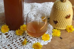 dandelion wine - danelion mead - homemade wine