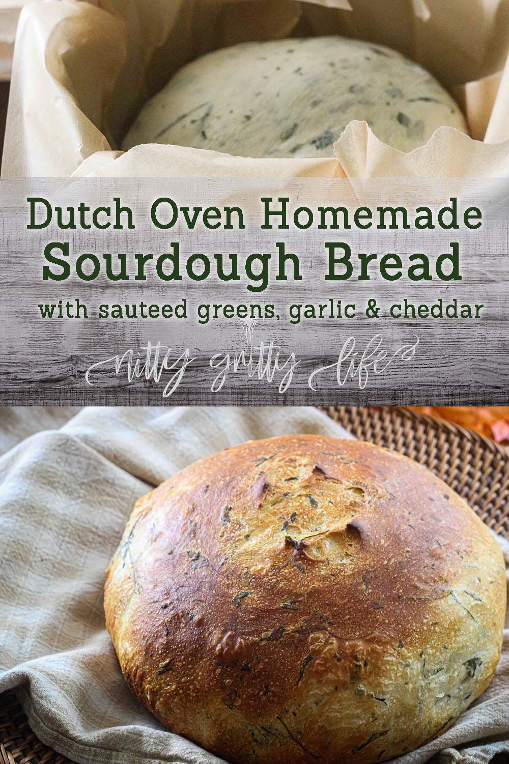 dutch oven homemade sourdough bread pin