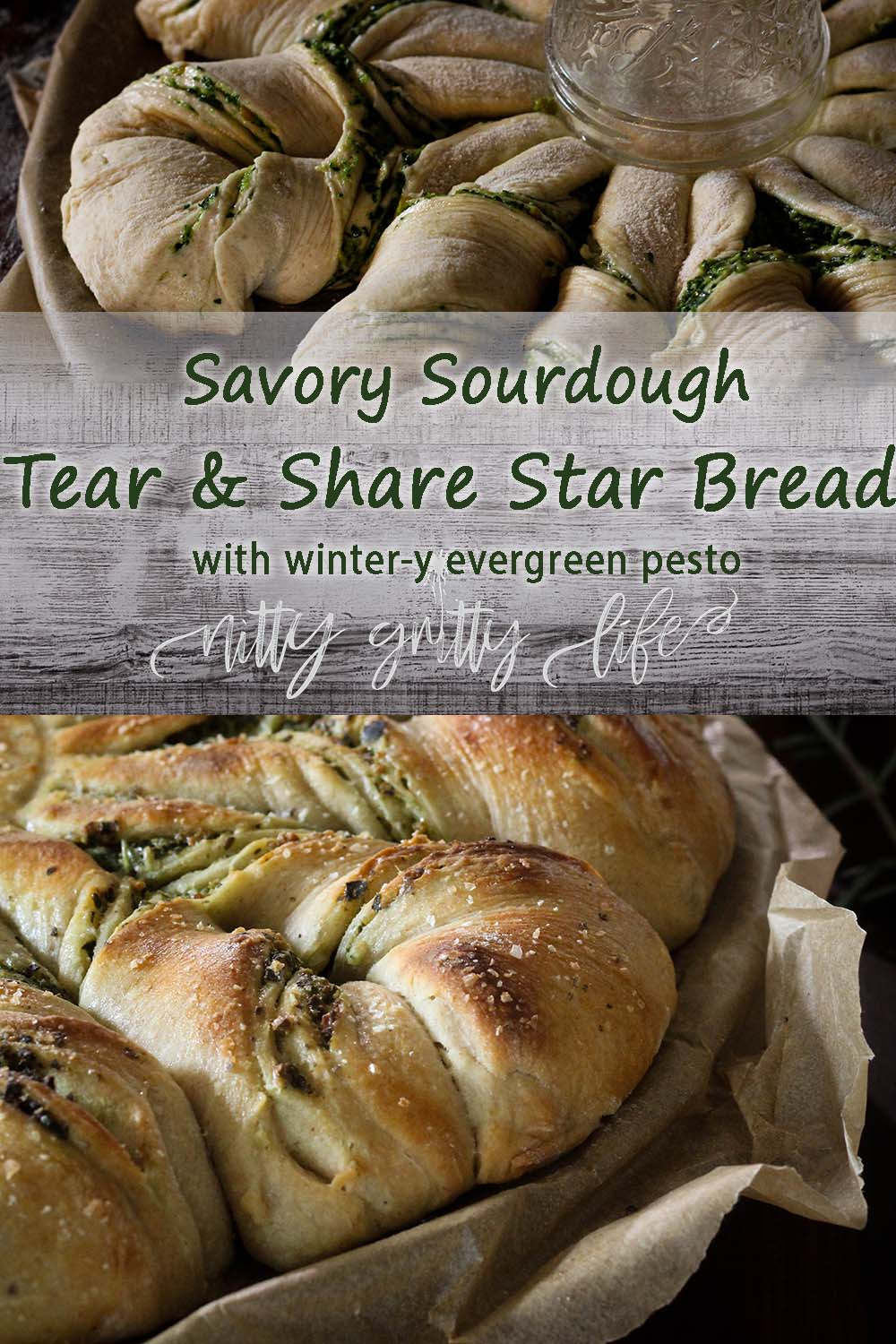 tear and share star bread pin
